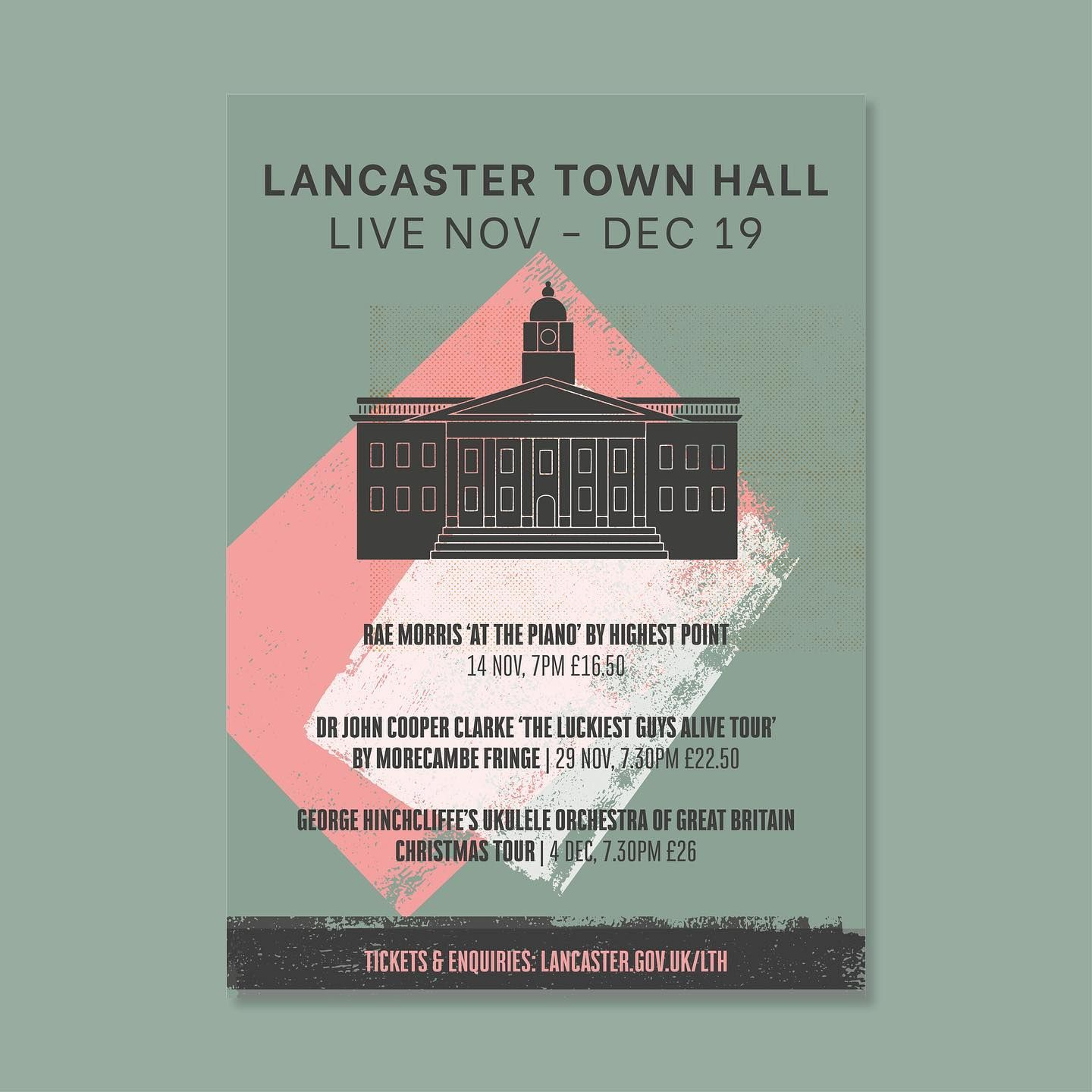 Poster Design for Lancaster Town Hall